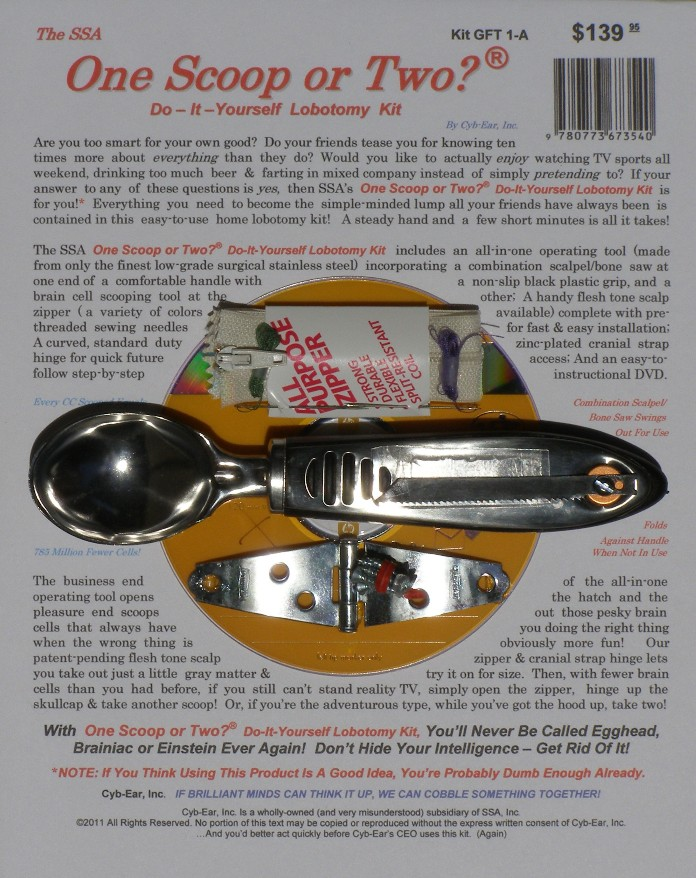 The ssa investment newsletter other nonsense 160 do it yourself the ssa do it yourself lobotomy kit solutioingenieria Image collections